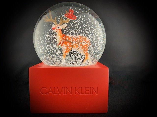 calvin klein snow globe