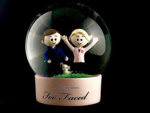 Custom Snow Globes Estee Lauder Too Faced