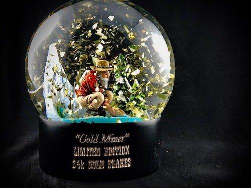 Custom Snow Globes Gold Miner 24K