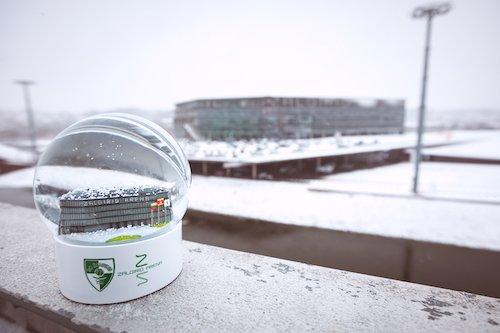 zalgirio arena snow globe