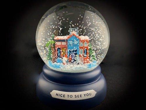 warby parker snow globe