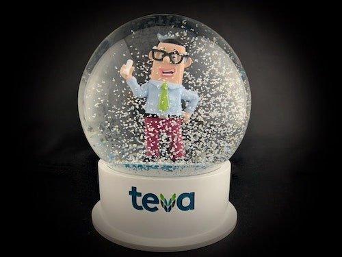 Custom Snow Globes Teva Pharmaceuticals