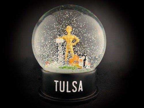 Custom Snow Globes Tulsa Ida Red Golden Driller